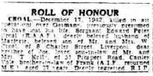 Roll of Honour - The Sydney Morning Herald - 09 July 1943