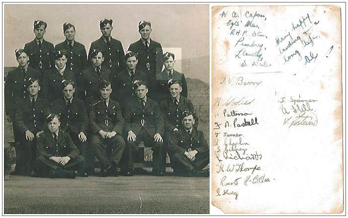 Sgt. Ronald James Chaplin - while in training - group photo