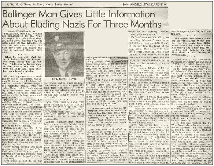 SAN ANGELO STANDARD TIMES - MARCH 1944
