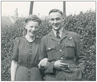 1203348 - Sergeant - Flight Engineer Arthur Harold Clark with his girlfriend Hazel