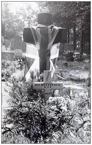 Sgt. Grantley Charles George Hutton - Grave marker - post-war