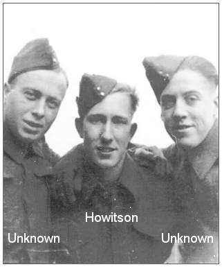 1941 - Sgt. George Alexander Howitson (center) with two unknown servicemen