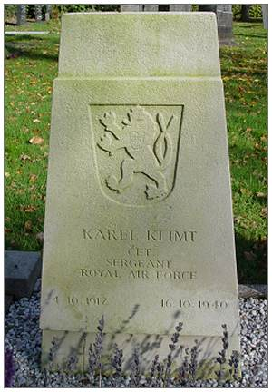 787547 - Sergeant - Karel Klimt - RAFVR - headstone - 04 Nov 1912 - 16 Oct 1940
