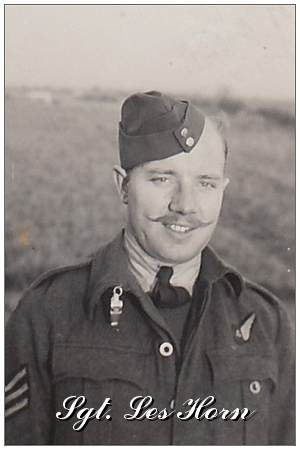 R/119868 - Sgt. - Air Gunner - Clarence Leslie 'Les' Horn - RCAF