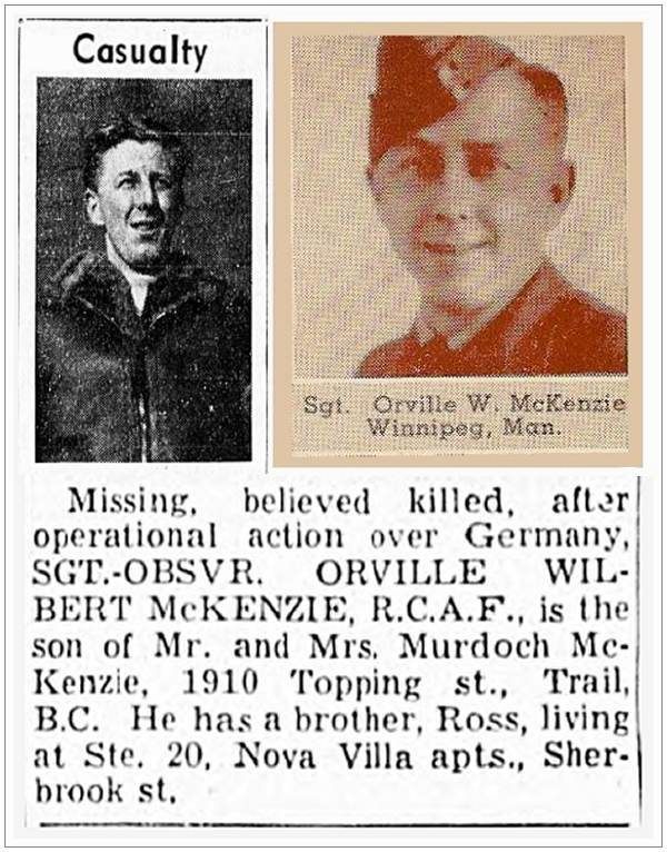 R/80200 - Sgt. Orville Wilbert McKenzie - via Canadian Virtual War Memorial
