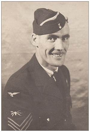 R/71717 - Sgt. Robert Walker Wagstaff - 194x - wearing 'training' overseas cap