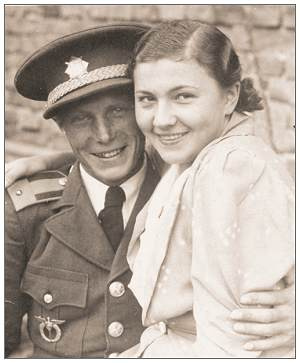 Sergeant Vaclav Valeš and his girlfried Marie