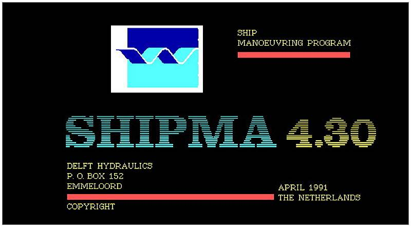 SHIPMA Version 4.30 - Apr 1991