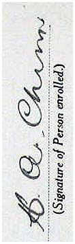 Signature - 13th May 1940 - Enrolment