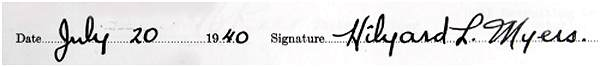 Signature - Attestation paper - Hilyard Lowell Myers
