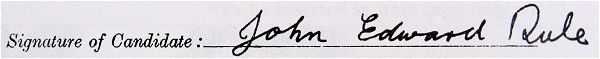 Signature - Attestation paper - John Edward Rule - 28 Apr 1941