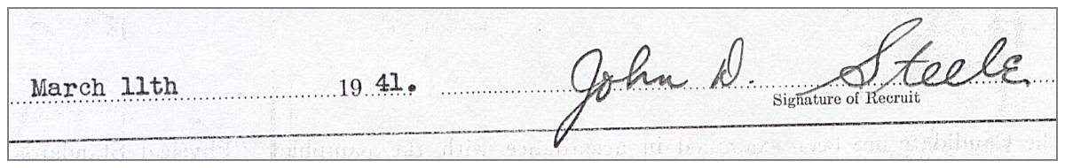 11 Mar 1941, Regina, SK - Signature of 'Jack'