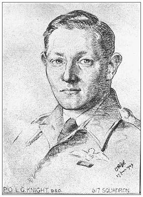 Sketch of Les Knight - 27 Jun 1943