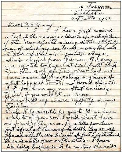 14 Oct 1943 - Smith / Young correspondence