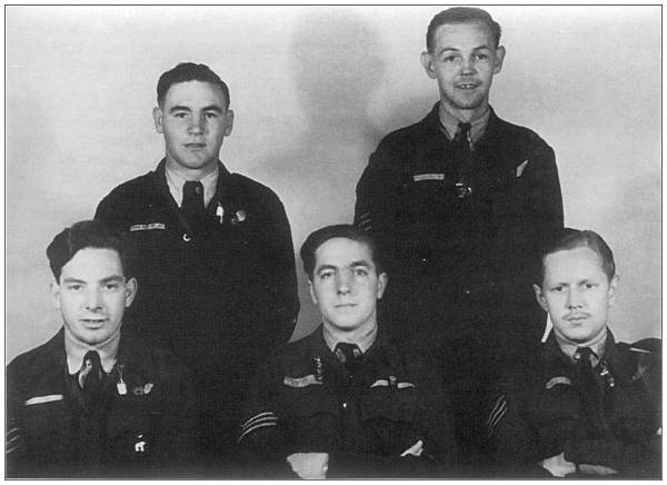 Crew photo with five members of JB545