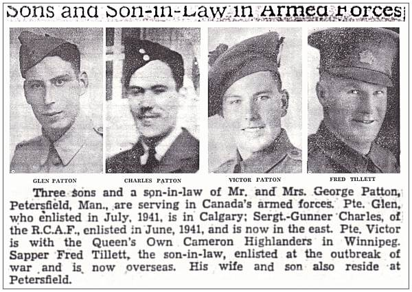 Sons and Son-in-Law in Armed Forces