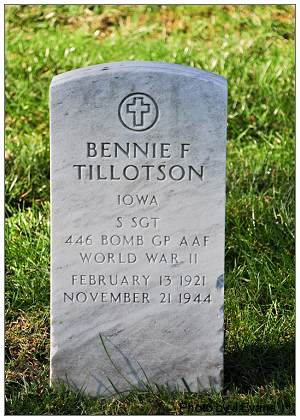 Tombstone - S/Sgt. Bennie F. Tillotson