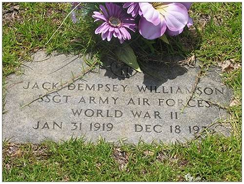 S/Sgt. Jack Dempsey Williamson - 1919 - 1974