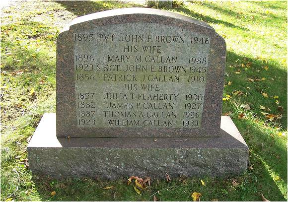S/Sgt. John E. Brown - Cemetery - Worcester, MA