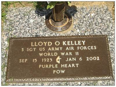 Headstone - S/Sgt. - Ball Turret Gunner - Lloyd O. Kelley