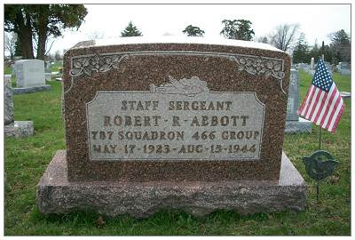 S/Sgt. Robert Richard Abbott - Memorial at Maple Grove Cemetery, Findlay, OH
