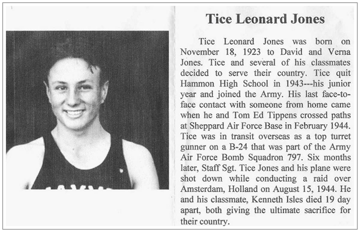 News clip - S/Sgt. - Tice Leonard Jones