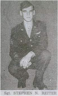 Stephen N. Reiter - Aviation Cadet - local paper - Sharpsburg, PA