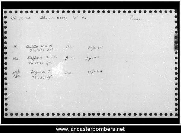 Loss Card - N3594 - UX-F - Butcher - via www.lancasterbombers.net