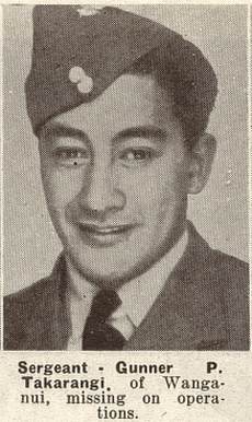 TWN 01 Oct 1941 - Missing - Sgt. Pine Tenga Takarangi, RNZAF