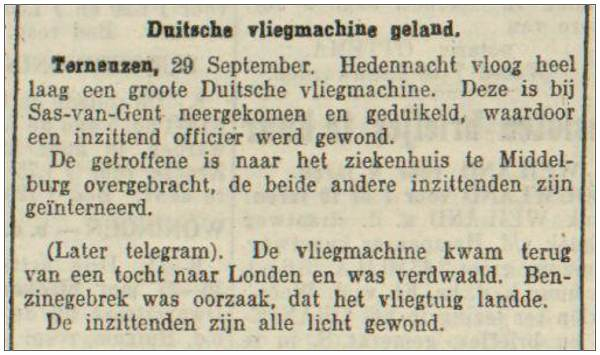 Terneuzen, 29 Sep 1917 - hedennacht