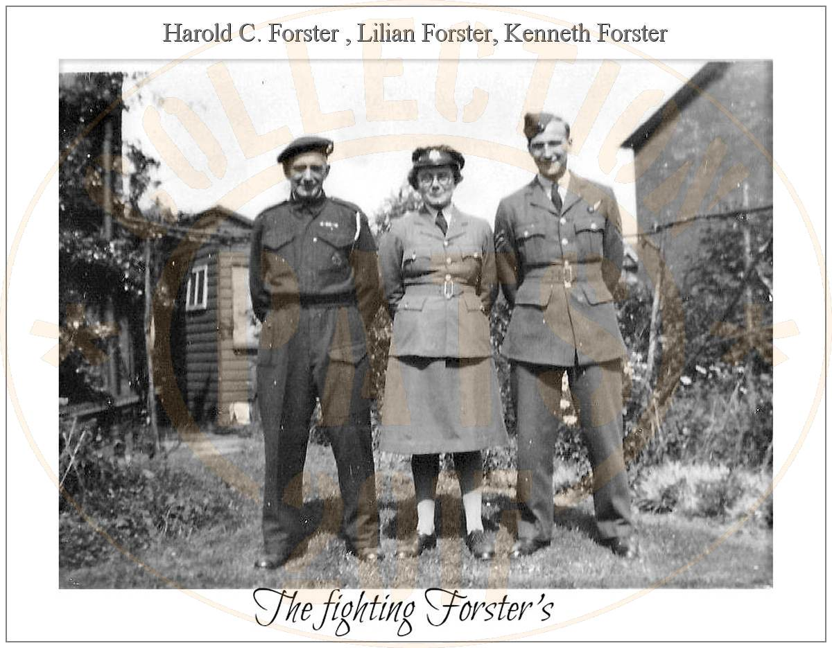 The fighting Forster's - Harold (father), Lillian (sister) and Kenneth