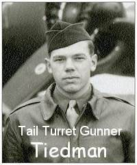 Tiedman as on crew photo - Dec 1943