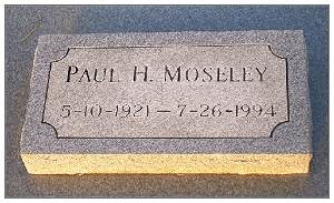 T/Sgt. Paul Henry Moseley - grave marker