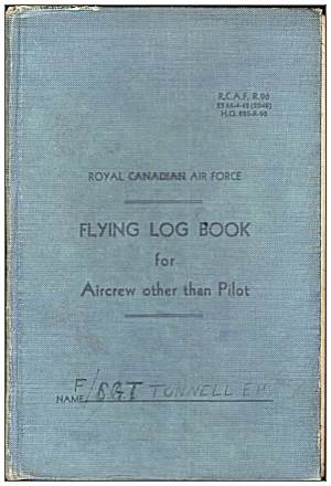 Cover - Flying Log Book - 1395660 - Flight Sergeant - Navigator - Eric Henry Tunnell - RAFVR