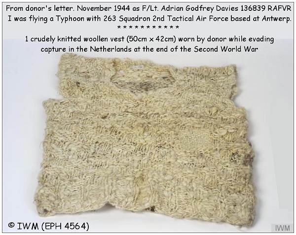 Waistcoat worn by Davies - (EPH 4564) - Imperial War Museum