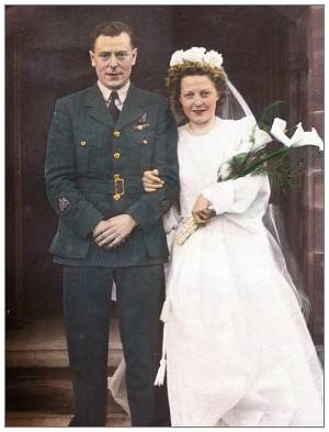 01 Feb 1946 - Wedding - Warrant Officer James Frederick Perring - Ms. Marion Brocklehurst
