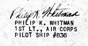 Signature of Philip K. Whitman - MACR 9120