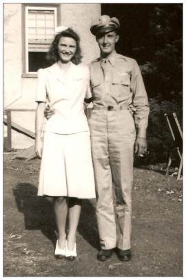 2nd Lt. Robert A. Gum, Sr with his wife Kathryn Joyce Gum