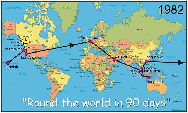 PATS - Round the world in 90 days - 1982