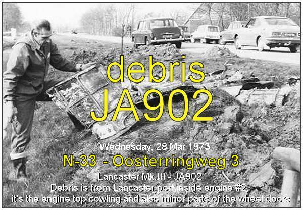 Mr. Gerrie Zwanenburg - Bergingsdienst KLu - with debris of a Lancaster - March 1973 . . . . . It's JA902 - info PATS - 08 Nov 2018